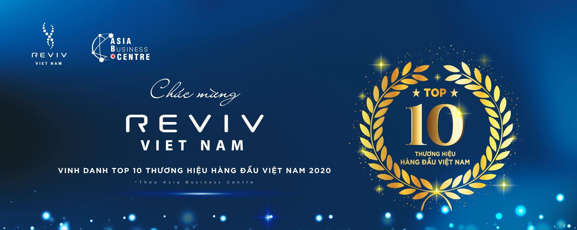 """REVIV Vietnam được vinh danh trong lễ công bố """"Top 10 Thương hiệu tốt nhất Việt Nam 2020"""""""